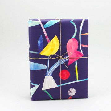 Paquet cadeau Floral Abstract