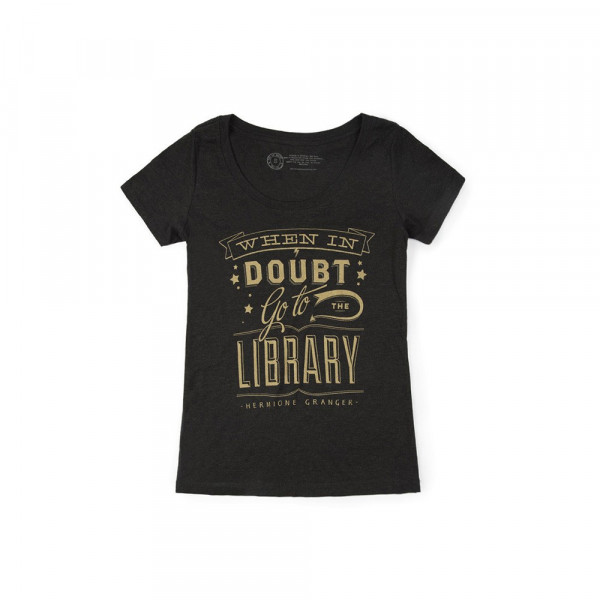 T-shirt F When in doubt Go to the library - Out of Print