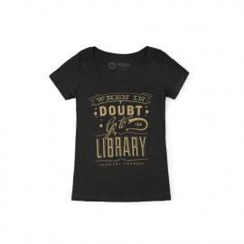 T-shirt Harry Potter Femme When in doubt Go to the library - Out of Print