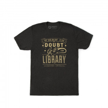 T-shirt Harry Potter Homme When in doubt Go to the library - Out of Print