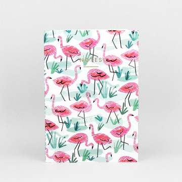 Carnet Flamants Roses - Wrap
