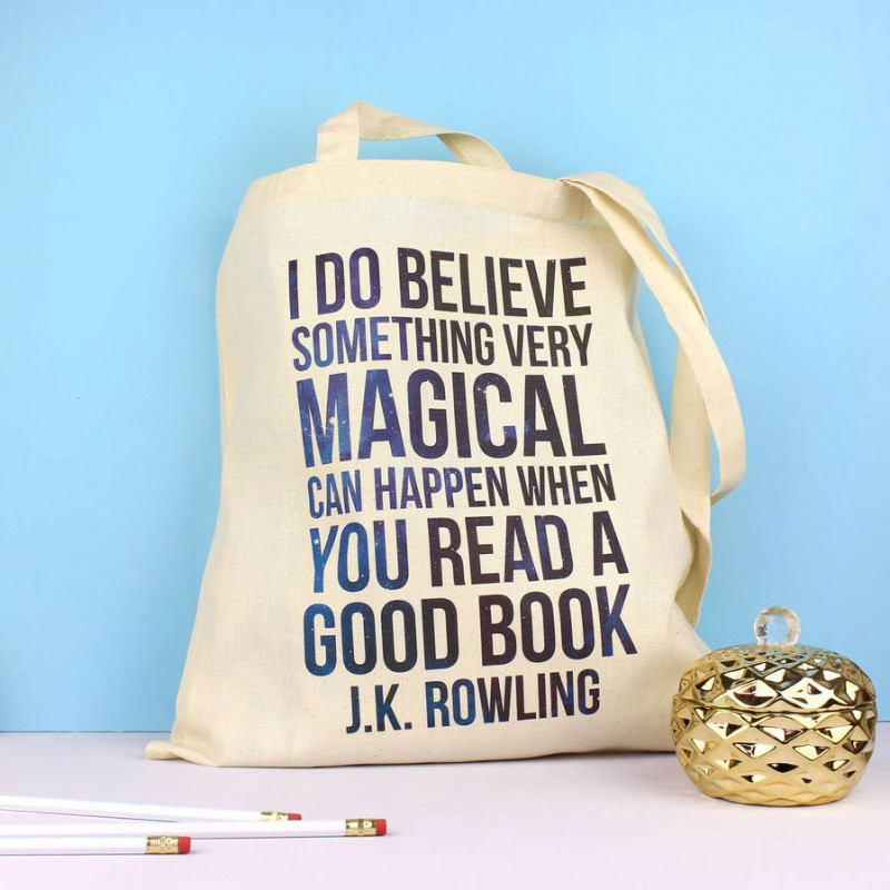 Tote bag J.K. Rowling - Fable and Black