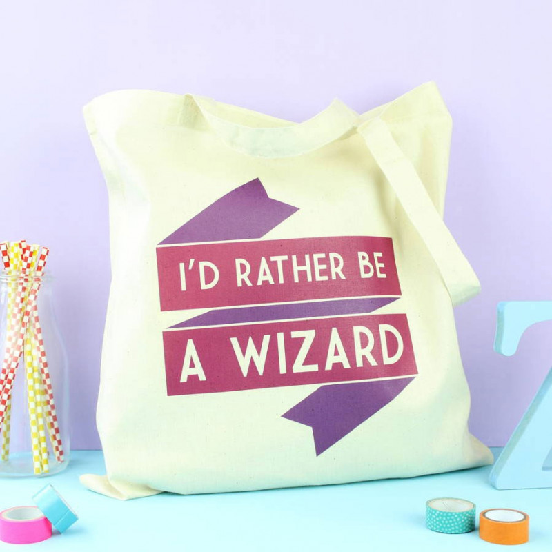 Tote bag I'd rather be a wizard - Fable and Black
