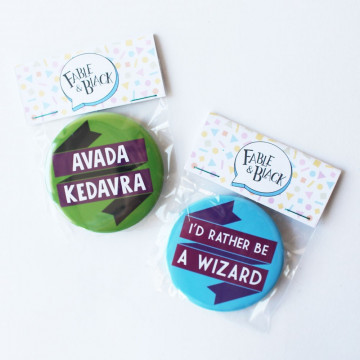 Badges de sorcier - Fable and Black