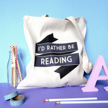 Tote bag I'd rather be reading - Fable and Black