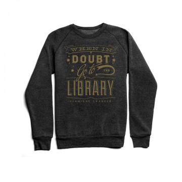 Sweatshirt Harry Potter Unisexe When in Doubt Go to the Library - Out Of Print