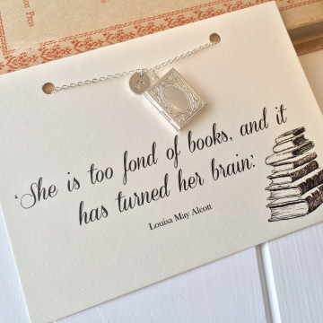 Collier Book Lover Locket - Literary Emporium
