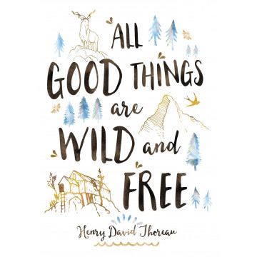 Carte All good things are wild and free
