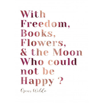 Carte Oscar Wilde Freedom Book Flowers