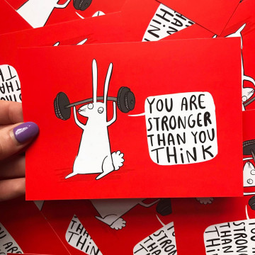 "Carte Lapin ""You are stronger"""