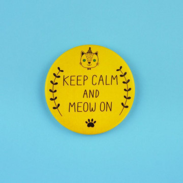 Badge Keep Calm and Meow On