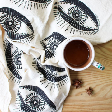 Tea Towel Seeing Eyes