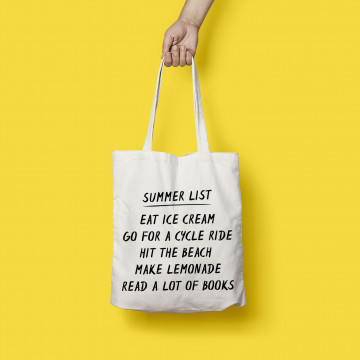 Tote Bag Summer List