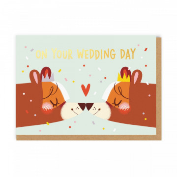 Carte Lady Wedding Bears