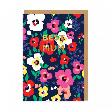 Carte Best Mum Floral