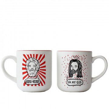 Set de tasses Oh My God / Jesus Christ