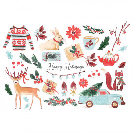 Grande carte Merry Holidays