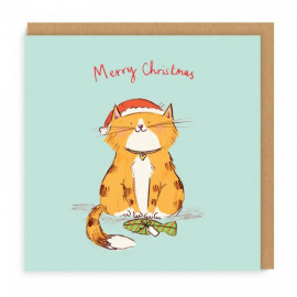 Carte Merry Christmas Cat
