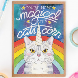 Carte You're more magical than a Caticorn
