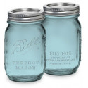 Bocal Mason Jar bleu