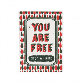 Carte postale You are free