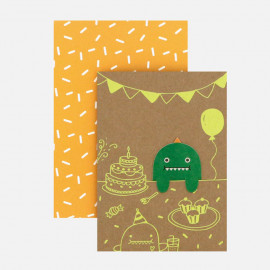 Carte Marque-Page Party Monstre Vert